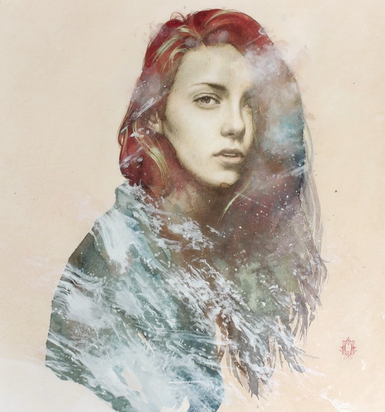 07-Oriol-Angrill-Jordà-Double Exposure-Watercolor-Paintings-www-designstack-co