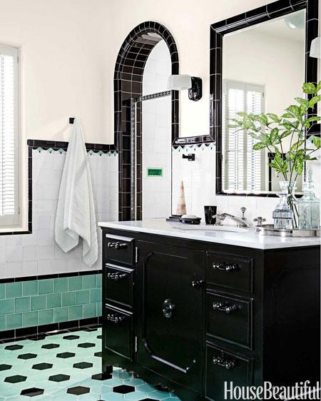 Using Bold Colors In The Bathroom: Aesthetic Oiseau: Black Bathroom Tile