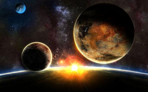 Impresionante fotografía de un amanecer en el espacio