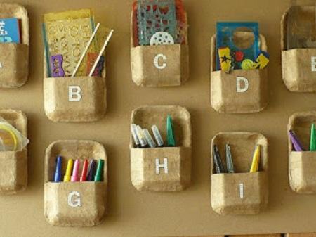Organizador de escritorio con platos - Como hacer un organizador de zapatos casero ...