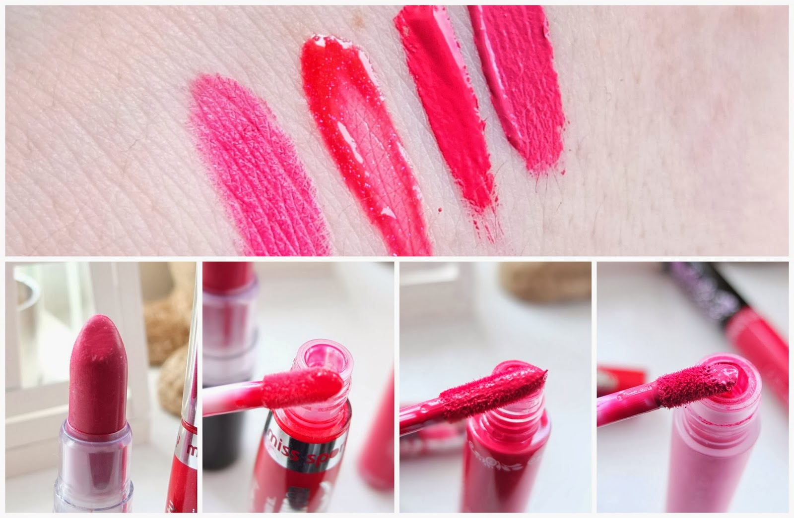 Reviews of the best budget high street lipsticks for bold lips costing under £5 on Hello Terri Lowe, British Beauty Blog.