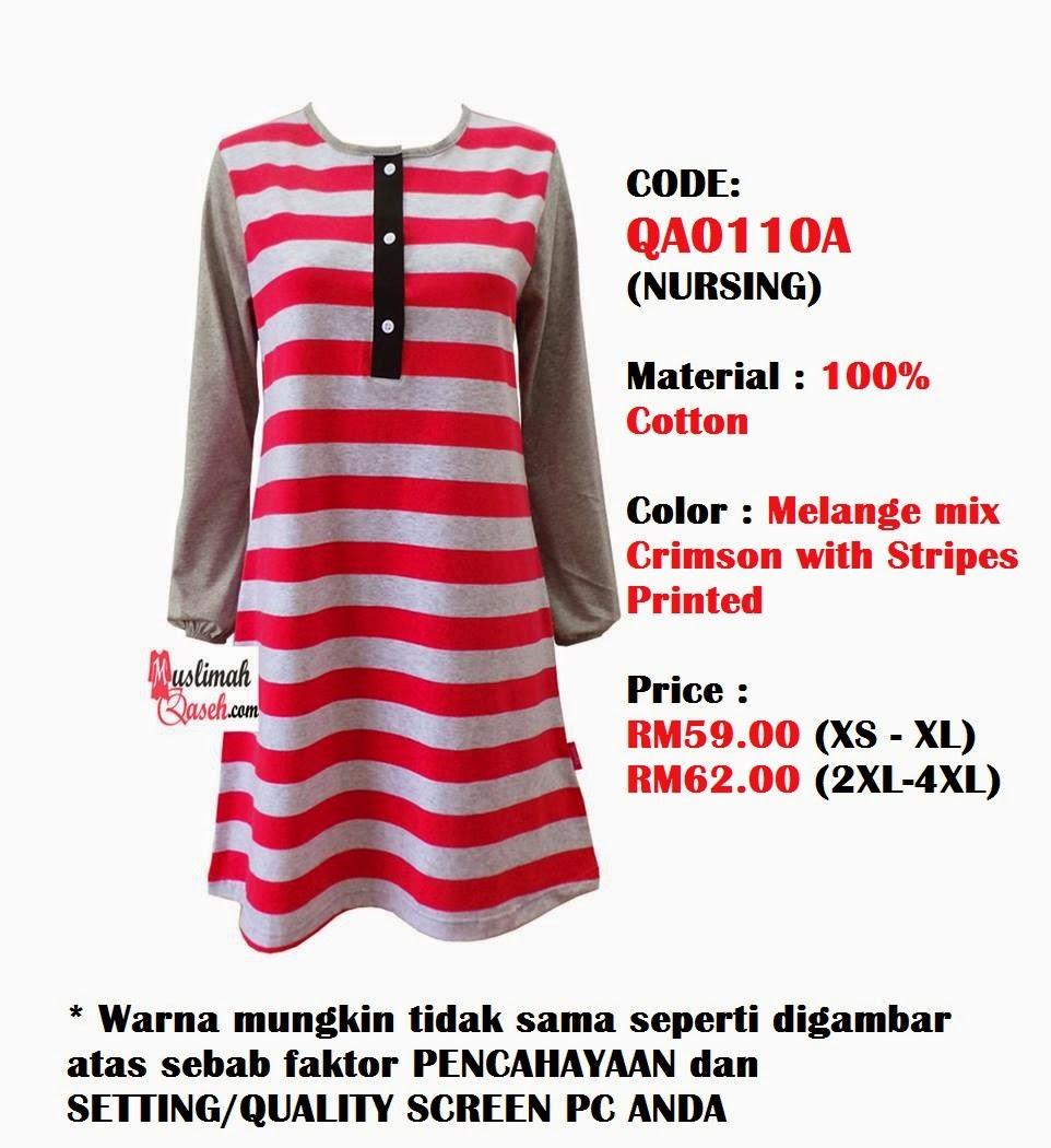 T-Shirt-Muslimah-Qaseh-QA0110A