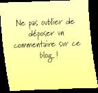 Vos commentaires sont des encouragements à continuer mon blogue....