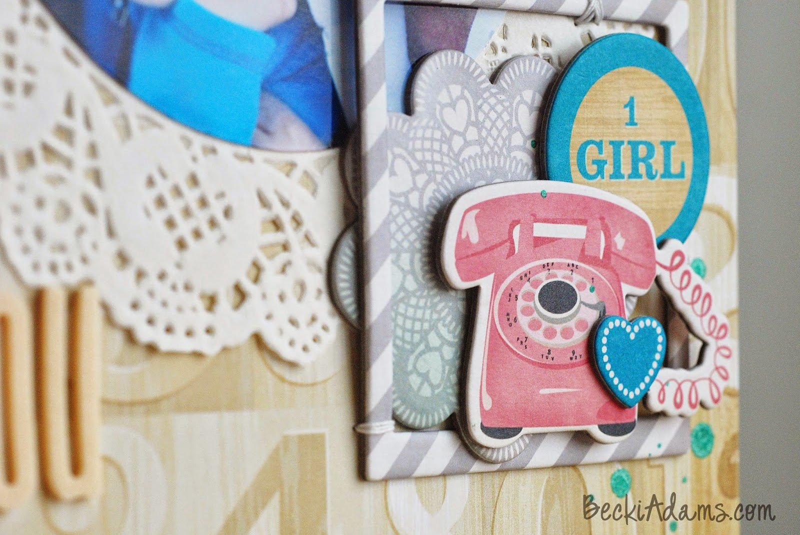 Tips for Scrapbooking with Circles by @jbckadams