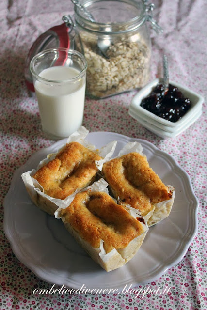 plumcake integrali all'avena e confettura di susine