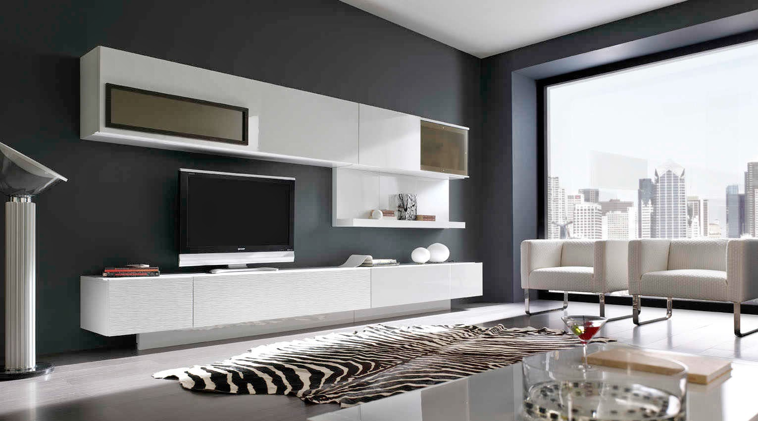 Proyectarq salas minimalistas y con modernos estilos for Colores para interiores casas minimalistas