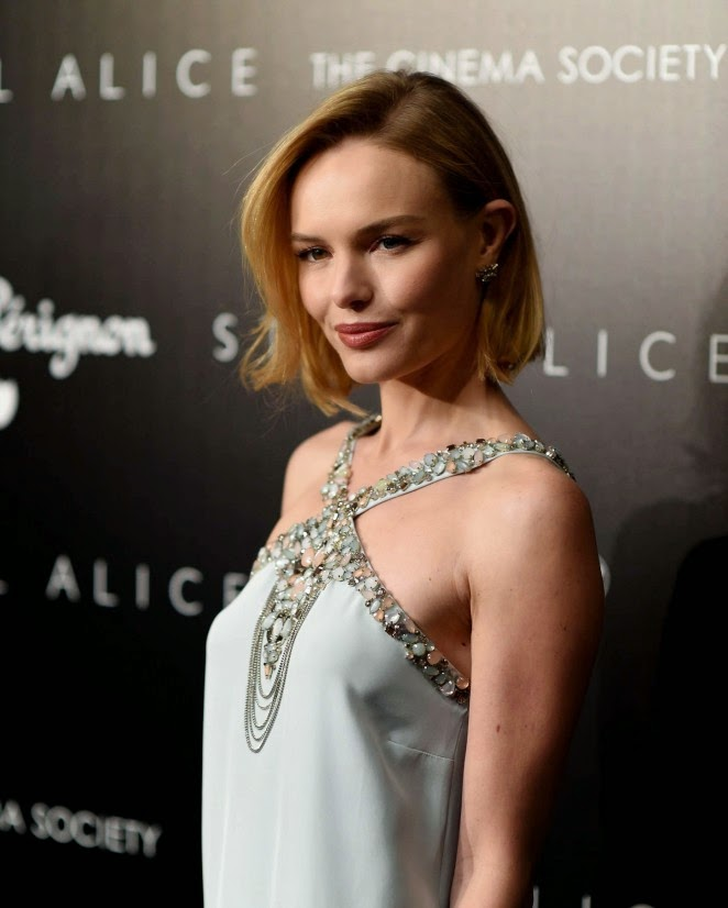 Kate Bosworth wears Oscar de la Renta for the 'Still Alice' New York City Screening