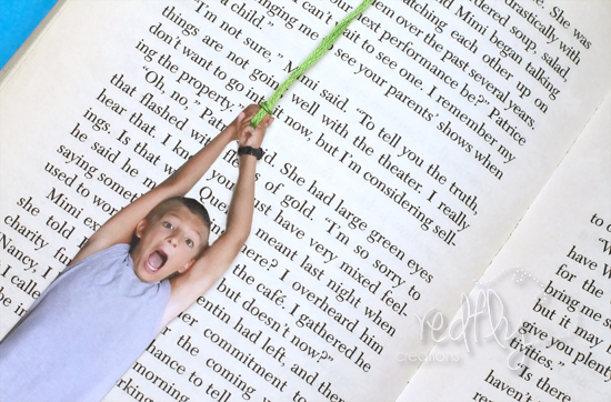 Manualidad de punto de libro con foto