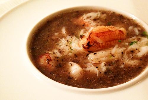 Bouley's signature dish, porcini flan