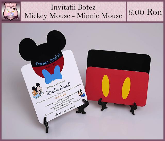 invitatii botez mickey minnie mouse