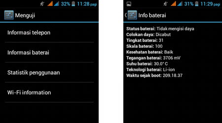 Cara Cek Baterai Drop Atau Tidak Pada Android