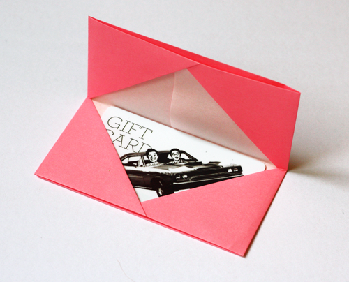 Make Sure Your Card Fits Then Fold In Half Origami Business Gift Holder DONE