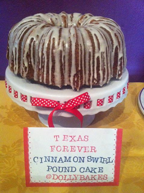 Texas Forever Cinnamon Swirl Cake