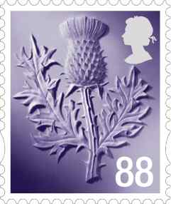 Scotland 88p definitive stamp.