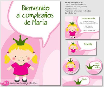 Kit de cumpleaños de la princesa