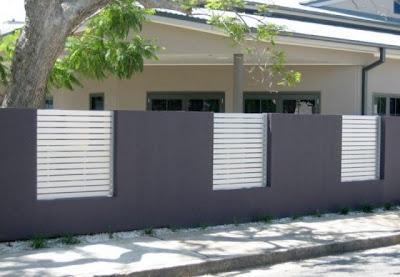 gambar pagar tembok rumah minimalis - desain gambar furniture rumah ...