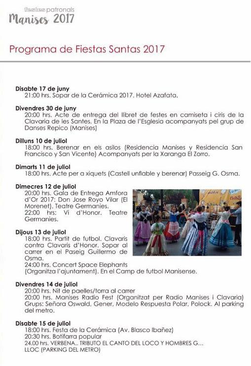 AM 09 FESTA DE LES SANTES PROGRAMA