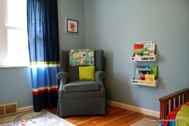 Inexpensive Ikea Spice Racks make perfect bookshelves. Click here to find out what to buy, and how to quickly make these bookshelves.