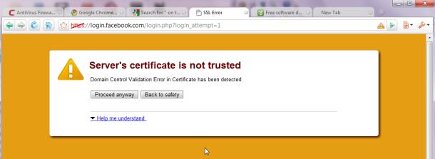 Comodo Dragon 27.2 - SSL Certificate Missing