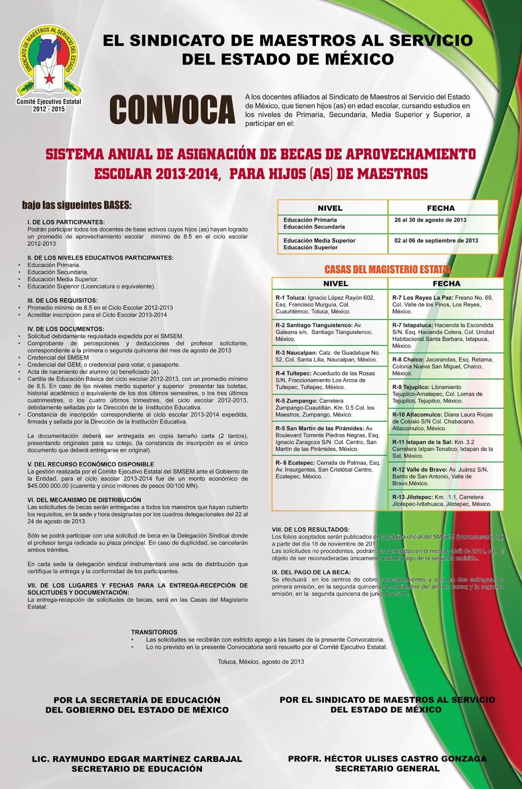 Prensa y accion politica bg035 2013 smsem junio 2013 for Convocatoria de maestros