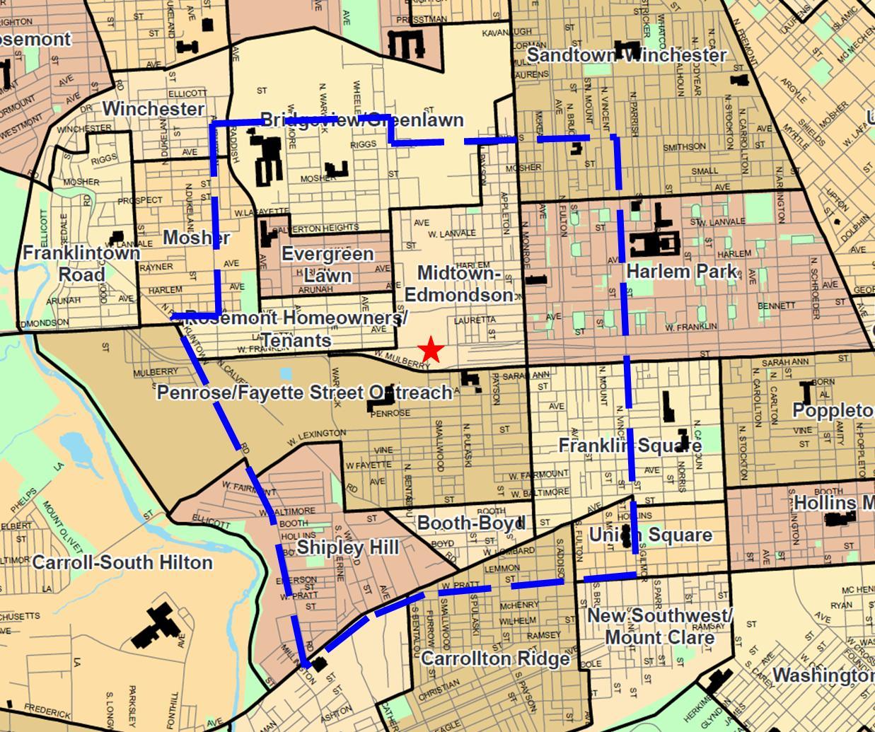 West Baltimore Strategic Alliance Focus Area