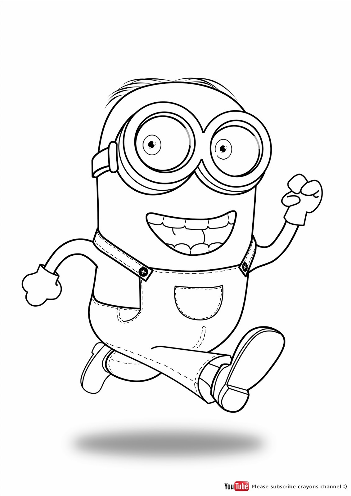 Free Coloring Pages Of Minion