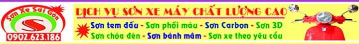 Sơn xe máy - Sơn phối màu - Sơn tem đấu chuyên nghiệp tại Tphcm