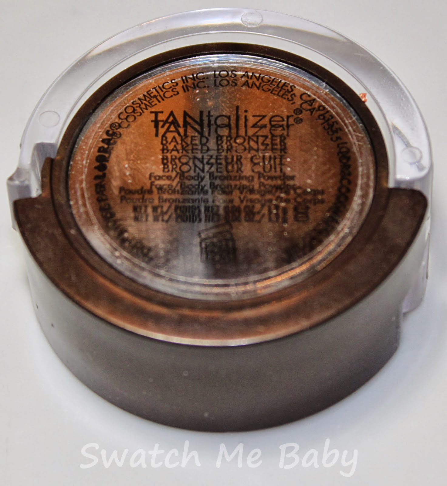 LORAC Travel-Size Tantalizer Baked Bronzer Mirror/Label
