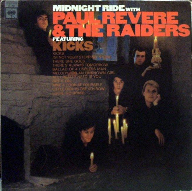 Vinyl Exam Midnight Ride Paul Revere And The Raiders