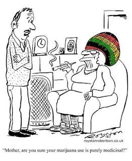cannabinoidi marijuana ganja erba cannabis THC terapia terapeutica mamma fumatrice vignetta fumetto cartoon
