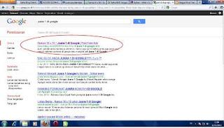 ranking 1 di google