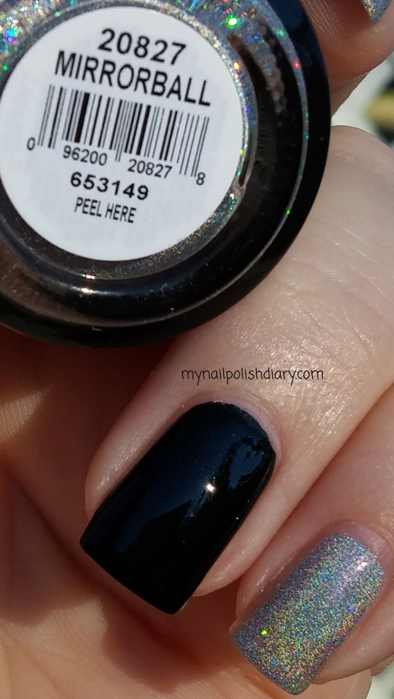 My Nail Polish Diary: Orly Mirrorball with Maybelline Onyx Rush
