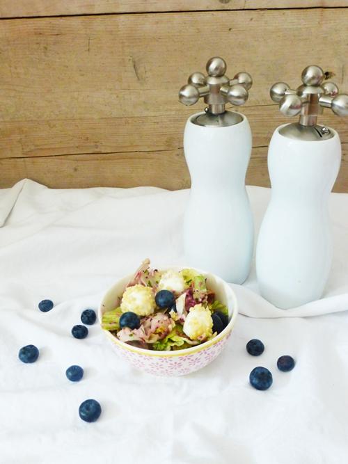 Salat Blaubeeren Dressing Vinaigrette Sommer