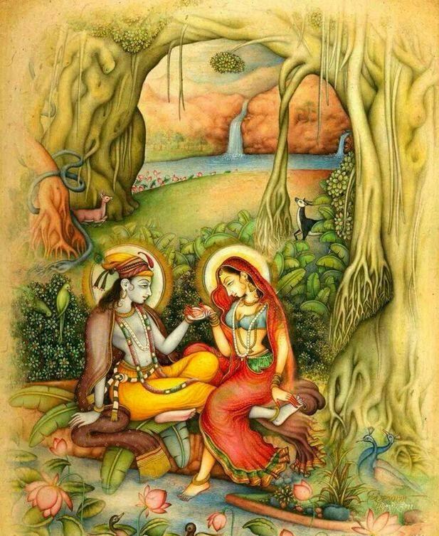 radhe krishna couple nice image