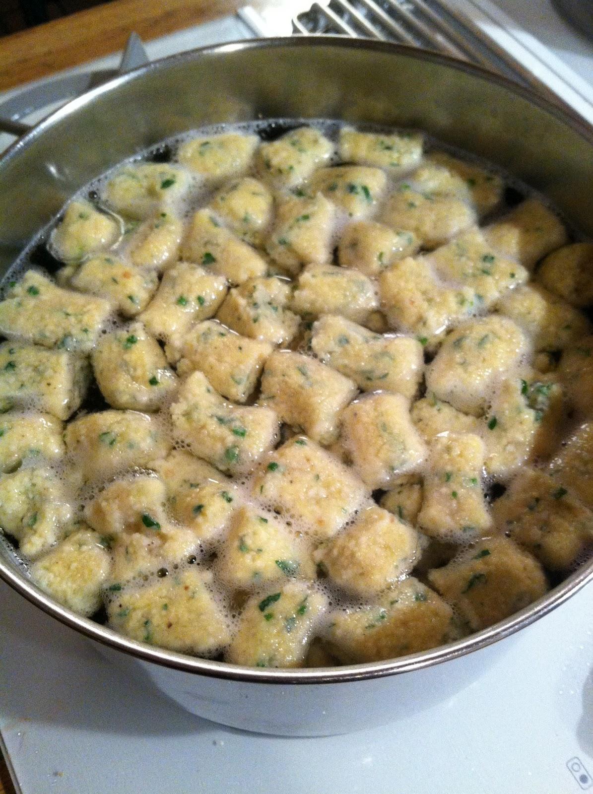 Matzah Gnocchi (from Bon Appetit)
