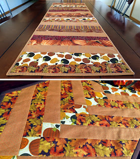 Autumn table runners