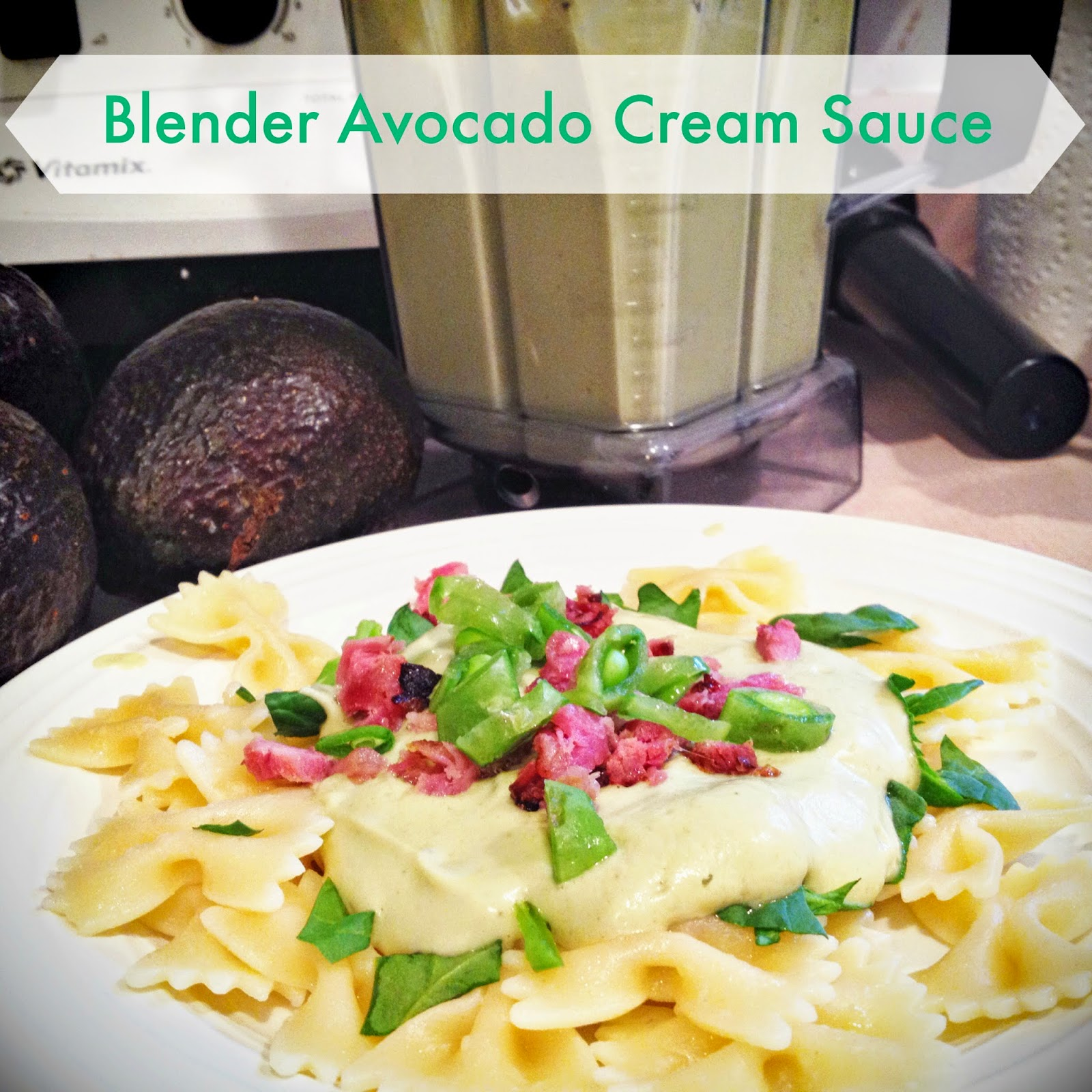 Blender Avocado Cream Sauce {Easy Vegan Garlicky Deliciousness}
