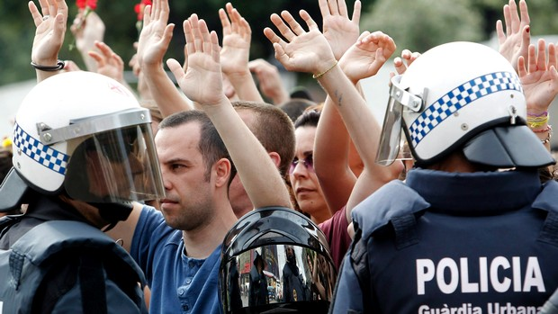 Protestos-Espanha: Acessos a Barcelona congestionados devido a protesto de estudantes