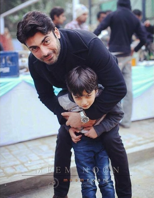 Fawad Khan with his son Ayaan Khan