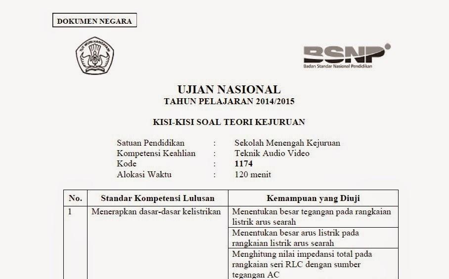 Rudy Hermawan News Kisi Kisi Soal Un Smk Quot Teori Kejuruan Quot