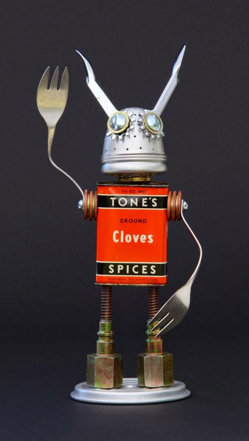 esculturas robots de Brian Marshall