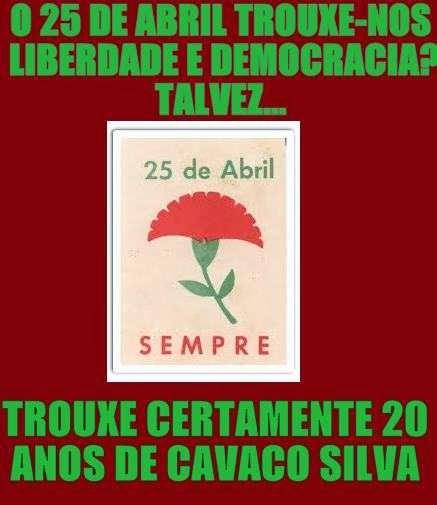 cravos abril liberdade aos corruptos