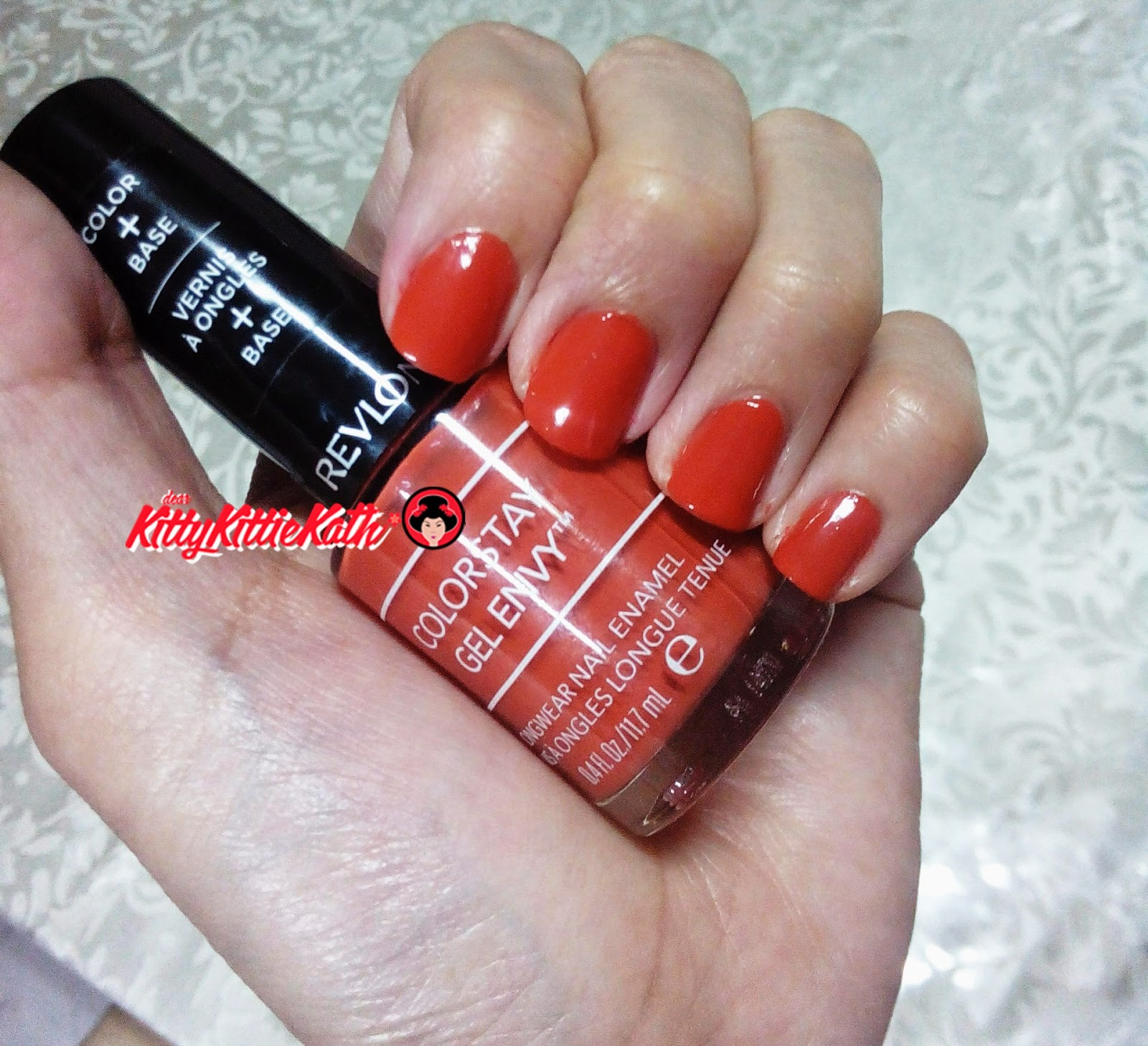Product Review: Revlon Colorstay Gel Envy Nail Enamel Revlon Colorstay Gel Envy Nail Enamel in LONG SHOT- orange with brown undertone, close to terracotta