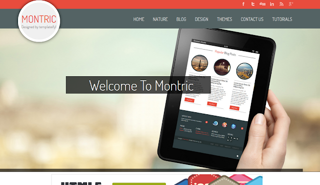 Montric Gallery Blogger Template