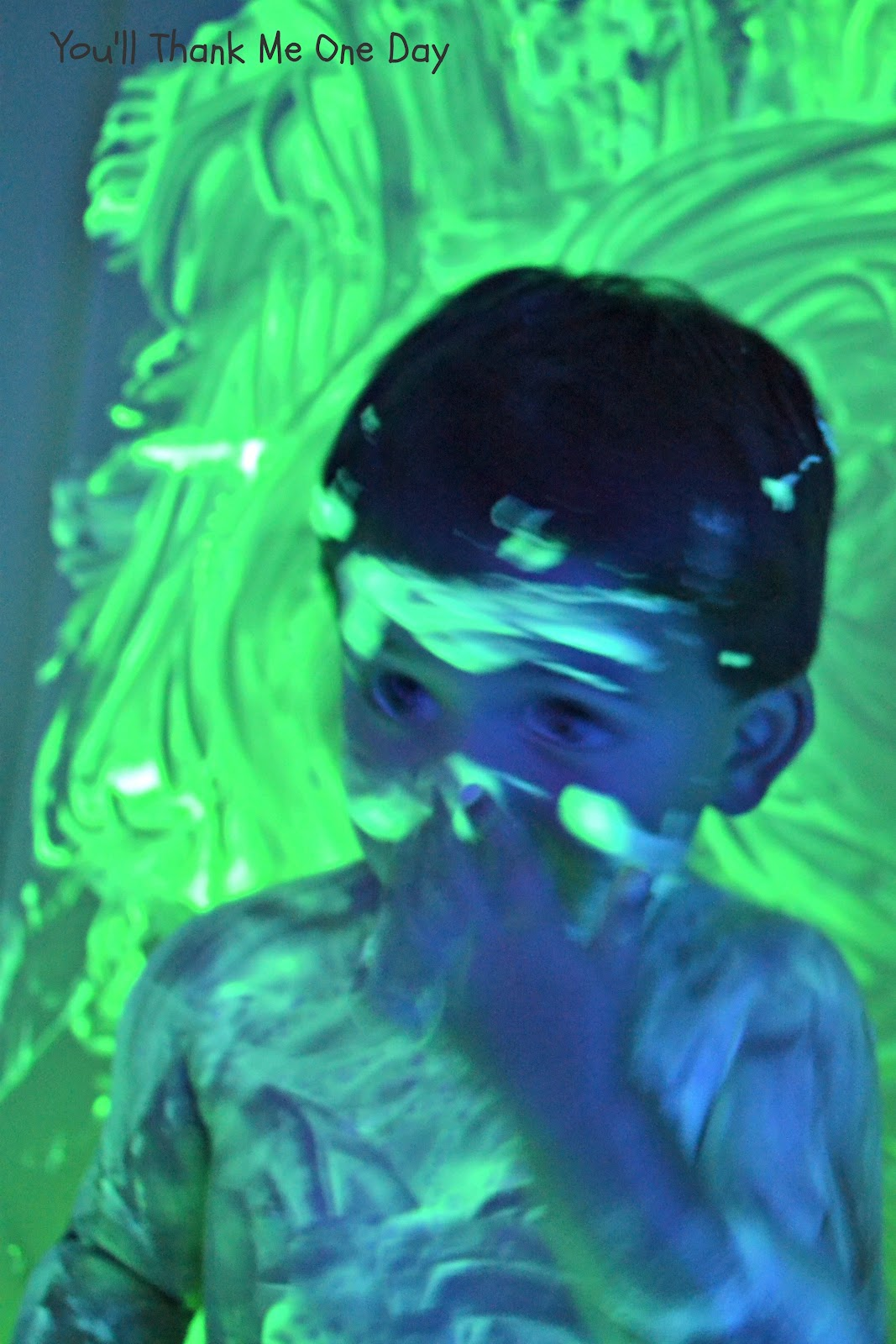 You 39 ll thank me one day glow in the dark bath paint for 1 day paint