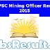 MPPSC Mining Officer Asst Geologist Exam Result Merit List