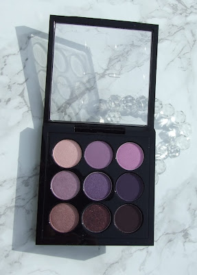 Eyes on mac times nine palettes purple swatch beauty blog review