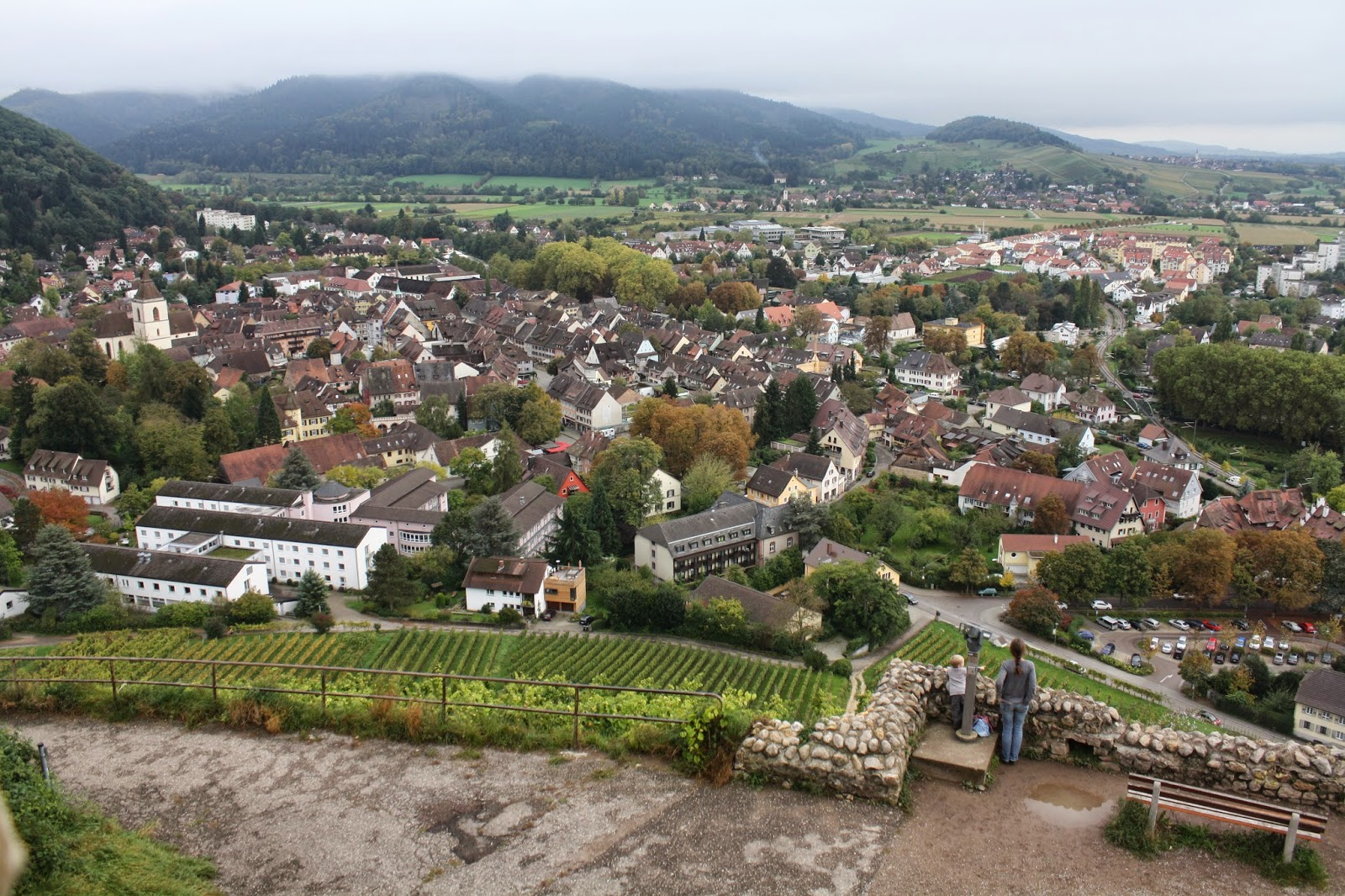 Staufen Germany castle lace up and walk