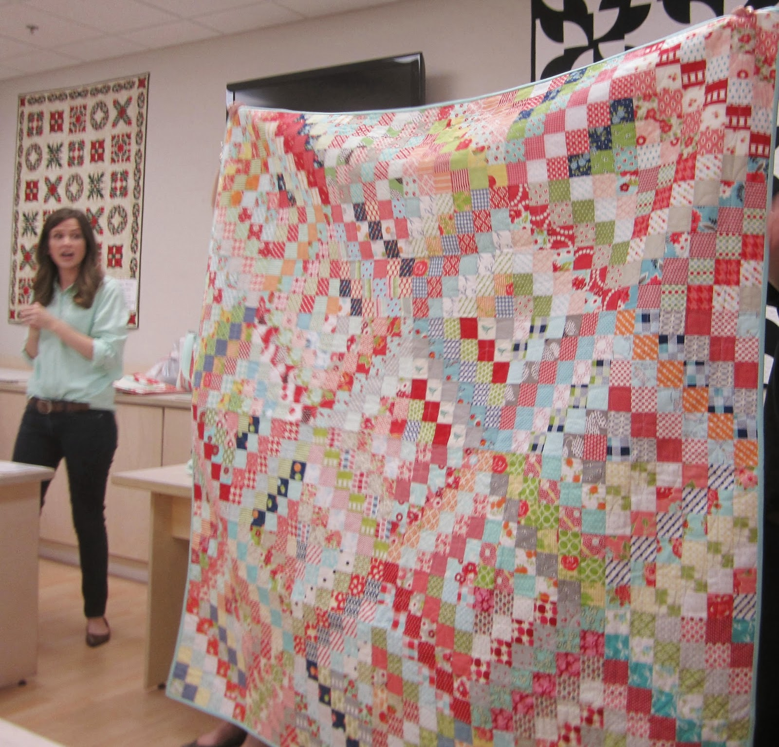 camille roskelley's scrappy around the world quilt