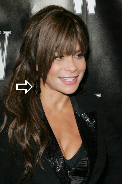 Paula Abdul wearing earrings by Jenny Dayco